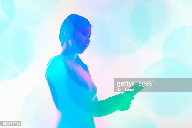 digital tablet technology - biometrics stock photos and pictures