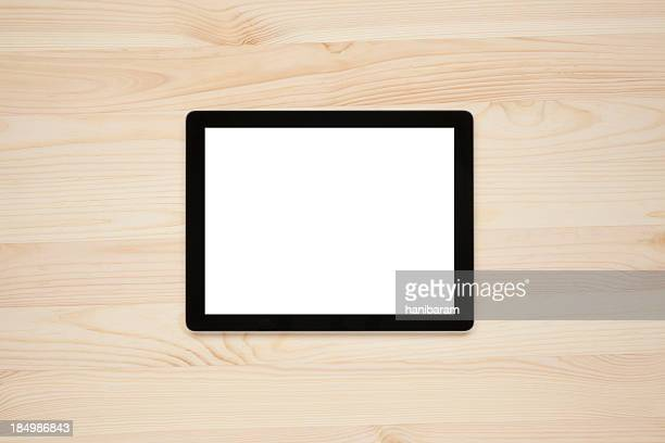 Digital tablet with a blank screen