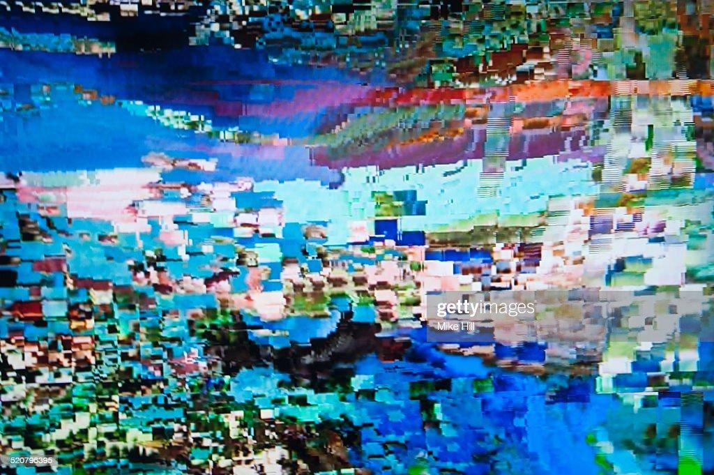 Digital television interference pattern : Photo