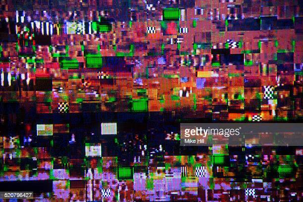 digital television interference pattern - problems stock pictures, royalty-free photos & images