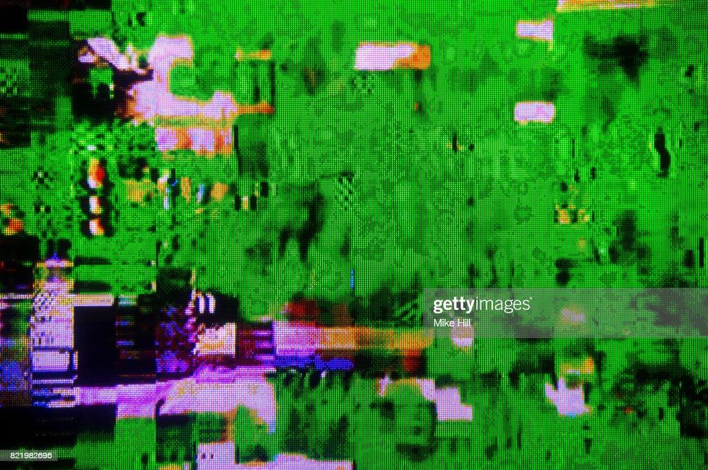Digital Television Interference Pattern : Stock Photo