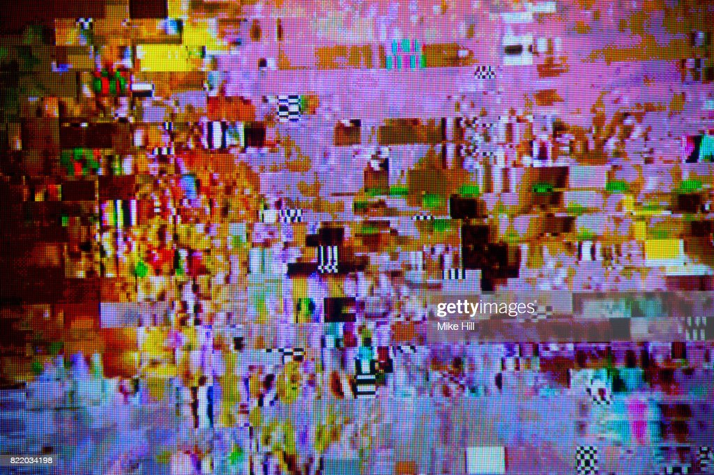 Digital Television Interference Pattern : Stock Photo