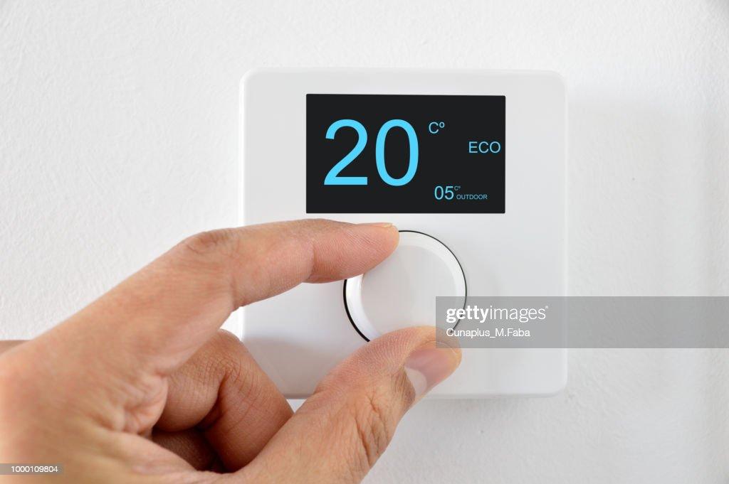 digital thermostat : Stock Photo