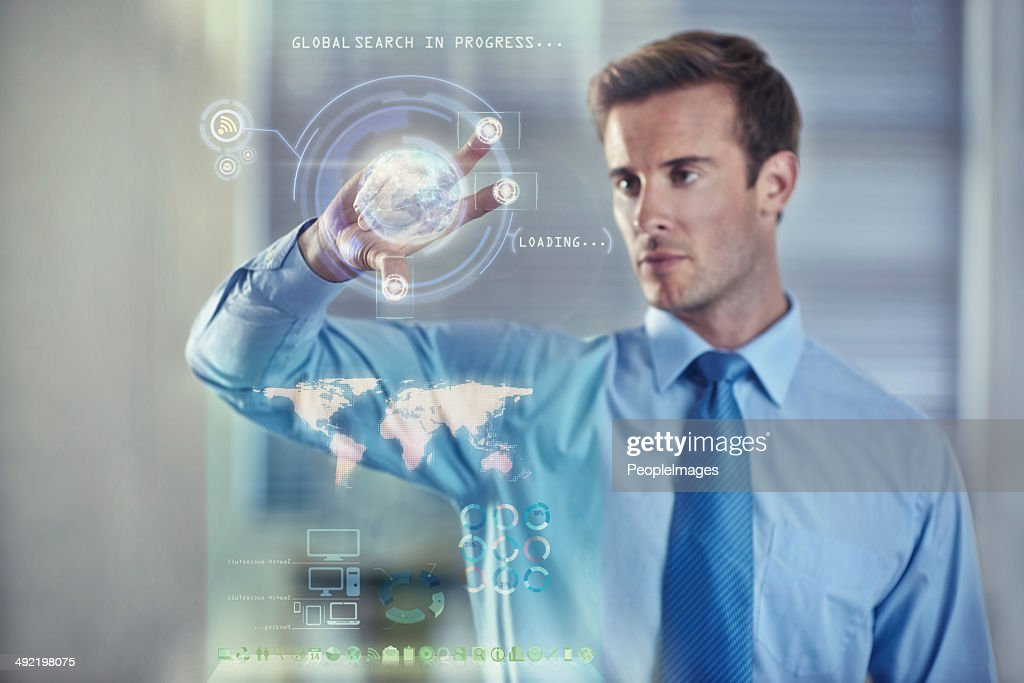 Digital tools for the modern businessman : Stock Photo