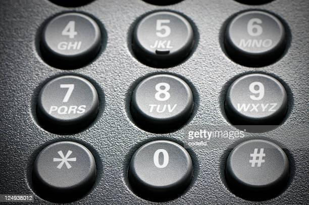 digital voip conference phone, keypad close-up - telephone number stock pictures, royalty-free photos & images