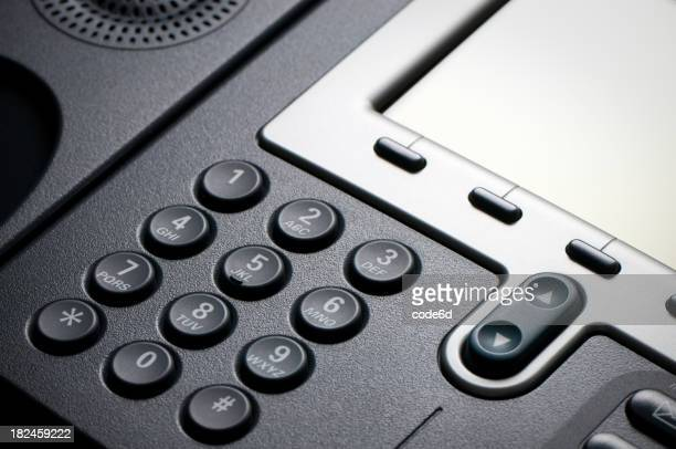 Digital VoIP conference phone, keypad close-up
