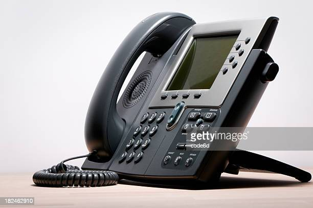 Digital VoIP phone, white background