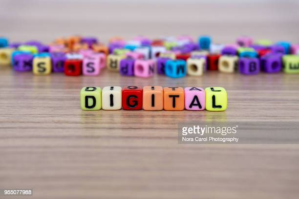 Digital word and alphabet letter beads