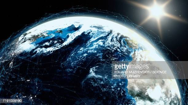 digital world, conceptual illustration - global stock pictures, royalty-free photos & images