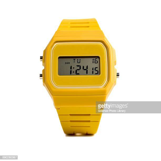 digital wristwatch - wrist watch stock pictures, royalty-free photos & images