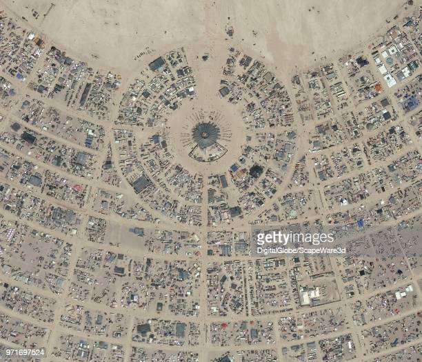 DigitalGlobe closeup imagery of the 2017 Burning Man Festival in Northwest Nevada