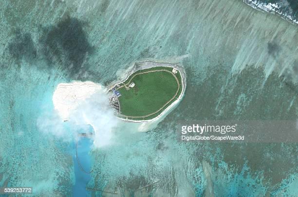DigitalGlobe imagery of Tree Island Tree Island is one of the main islands of the Paracel Islands group in the South China Sea Photo DigitalGlobe via...