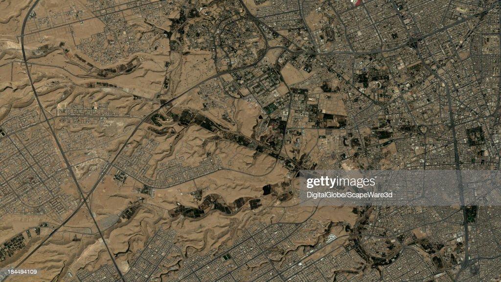 DigitalGlobe Satellite Imagery of Muhaya Compound, Riyadh, Saudi Arabia. : News Photo
