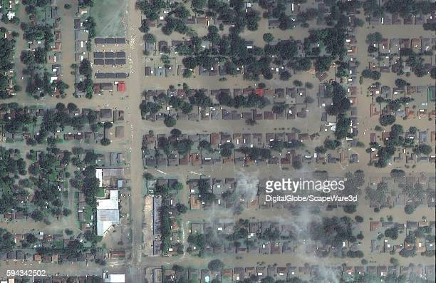 DigitalGlobe via Getty Images AFTER satellite image of Greenwell Springs Road in Baton Rouge, Louisiana...during the August 2016 flood.
