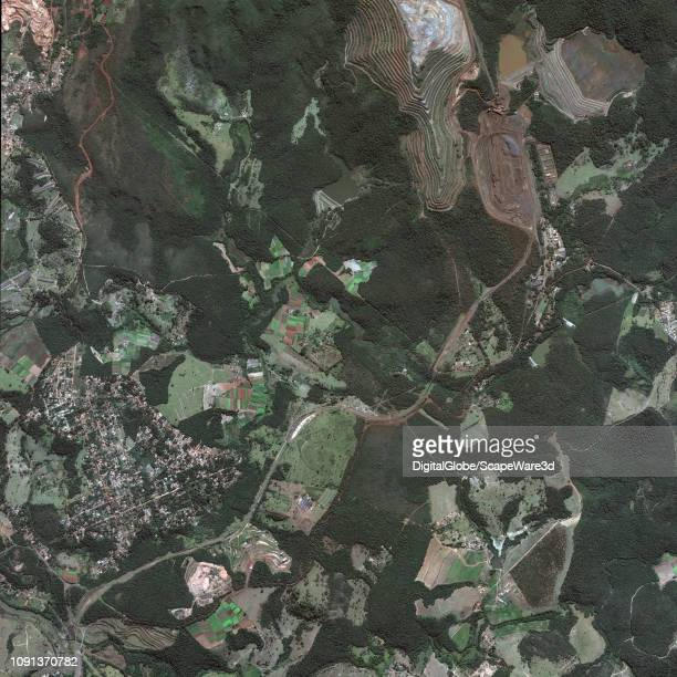DAM BREAK BRUMADINHO BRAZIL JUNE 2 2018 DigitalGlobe via Getty Images before imagery of the dam break near the town of Brumadinho in south central...