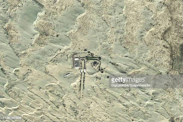 DigitalGlobe via Getty Images before imagery of the Imam Asim Shrine in China Photo DigitalGlobe via Getty Images via Getty Images