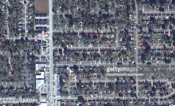DigitalGlobe via Getty Images BEFORE satellite image of Greenwell Springs Road in Baton Rouge, Louisiana...prior the August 2016 flooding.