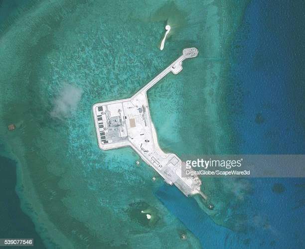DigitalGlobe closeup imagery of one of the Gaven Reefs The Gaven Reefs are located in the Tizard Bank of the Spratly Islands in the South China Sea...