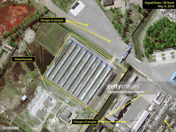 DigitalGlobe closeup imagery of the Kim Chaek Iron and Steel Complex showing activity indicating it is still operational Date May 8 2016 Mandatory...