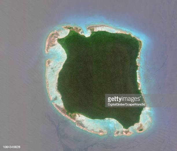 DigitalGlobe via Getty Images Imagery of North Sentinel Island India