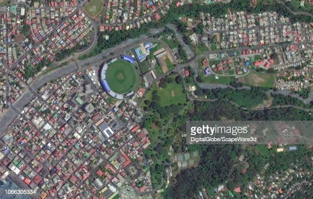 DigitalGlobe via Getty Images Imagery of Roseau, Dominica BEFORE getting hit by Huirricane Maria.