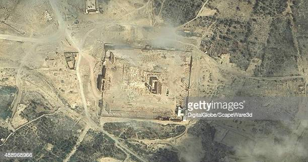 DigitalGlobe via Getty Images imagery of the Baalshamin temple in Palmyra, Syria collected on June 2nd, 2015 before it was destroyed by ISIS. An...