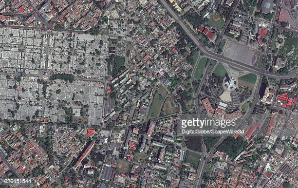 REVOLUCION HAVANA CUBA SEPTEMBER 28 2016 DigitalGlobe imagery of the Plaza de la Revolucion in Havana Cuba Photo DigitalGlobe via Getty Images