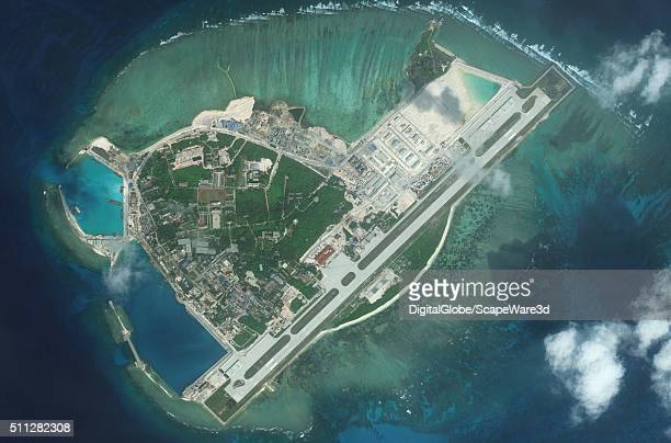 DigitalGlobe medium view imagery from 09 January 2016 of Woody Island Woody Island is also known as Yongxing Island and Phu Lam Island and is the...