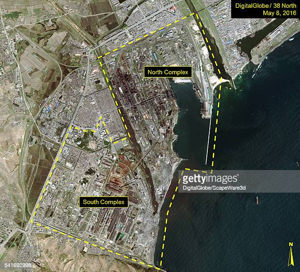 DigitalGlobe overview imagery of the Kim Chaek Iron and Steel Complex Date May 8 2016 Mandatory credit for all images DigitalGlobe/38 North via Getty...