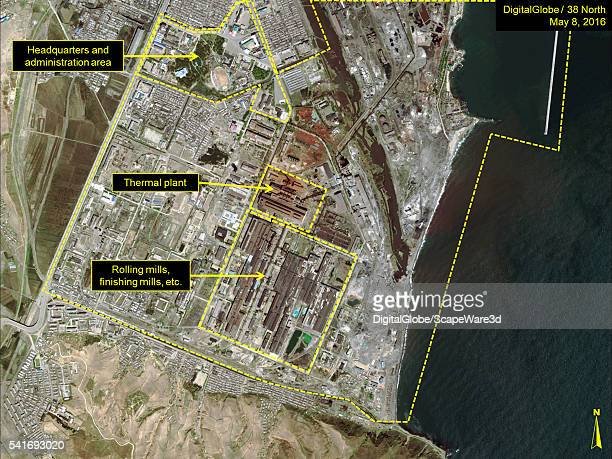 DigitalGlobe overview imagery of the Kim Chaek Iron and Steel's SOUTH Complex Date May 8 2016 Mandatory credit for all images DigitalGlobe/38 North...