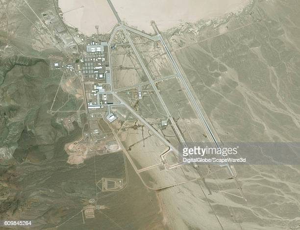 DigitalGlobe via Getty Images satellite image Area 51 The United States Air Force facility commonly known as Area 51 is a remote detachment of...