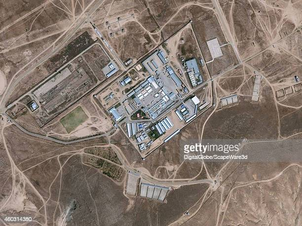 PRISON KABUL AFGHANISTAN SEPTEMBER 1 2014 DigitalGlobe satellite imagery of a the Salt Pit outside of Kabul Afghanistan The Salt Pit was the codename...