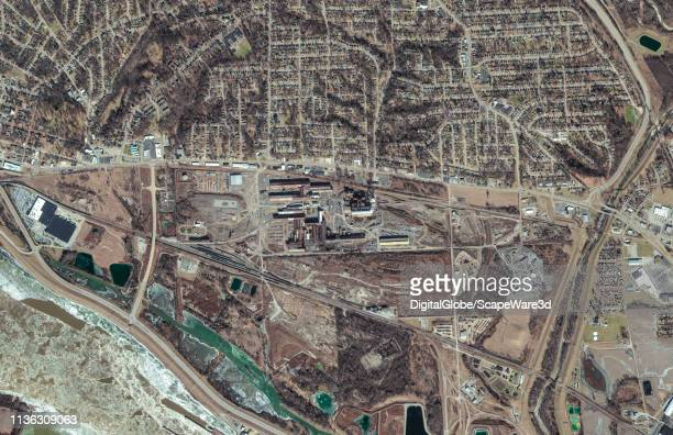 STEEL ALTON ILLINOIS JANUARY 25 2019 DigitalGlobe satellite imagery of Alton Steel in Alton IL Photo DigitalGlobe via Getty Images