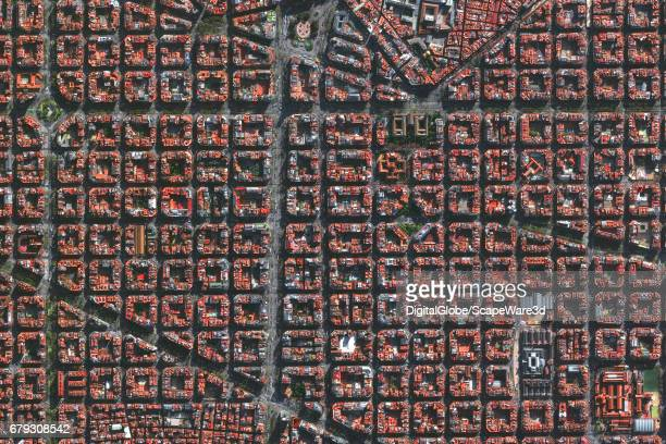 DigitalGlobe via Getty Images satellite imagery of Barcelona Spain