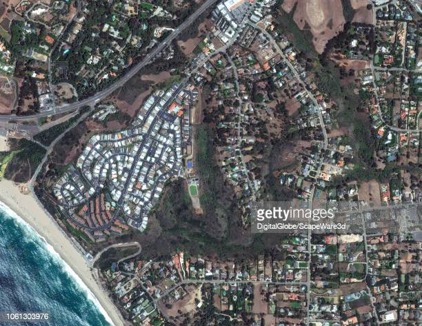 FIRE MALIBU CALIFORNIA JULY 20 2017 DigitalGlobe via Getty Images satellite imagery of Malibu California before the Woolsey Fire