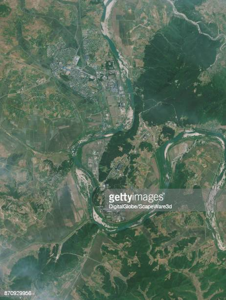 DigitalGlobe Satellite Imagery of the Yongbyon Nuclear Facility taken on June 10 2013 Credit DigitalGlobe via Getty Images