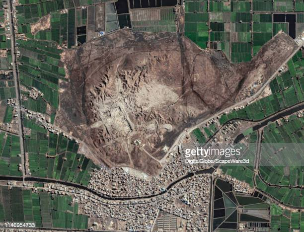 DigitalGlobe via Getty Images/Maxar overview satellite image of the archaeological site in Tanis Egypt Photo DigitalGlobe via Getty Images/Maxar via...