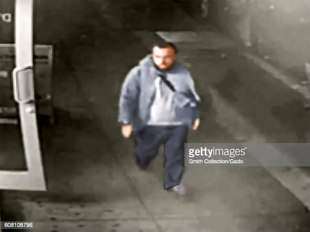 Digitally colorized image from a surveillance camera frame of Admad Khan Rahami a suspect in the September 17 2016 bombings which took place in the...