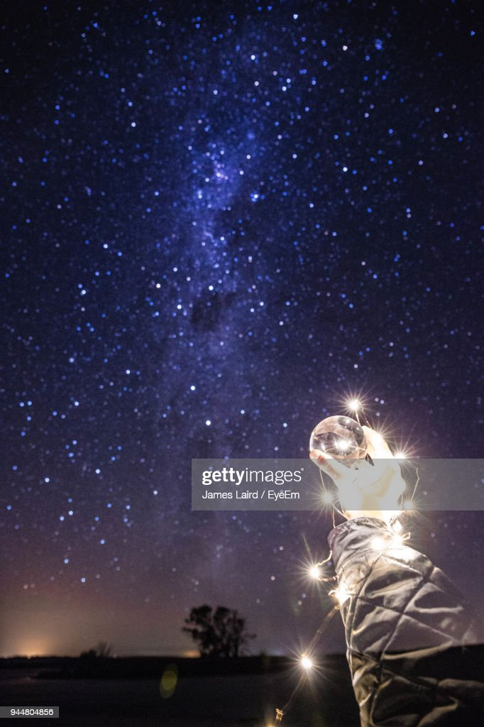 Digitally Composed Image Of Star Field At Night : Stock Photo
