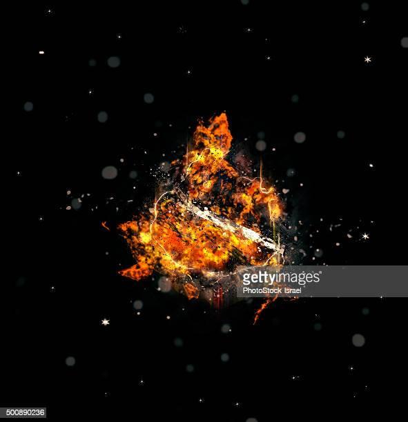Digitally created Exploding supernova star