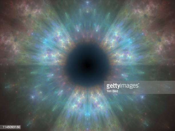 digitally generated fractal - the eyes have it stock pictures, royalty-free photos & images