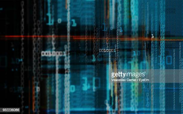 digitally generated image of binary code - binary code stock pictures, royalty-free photos & images