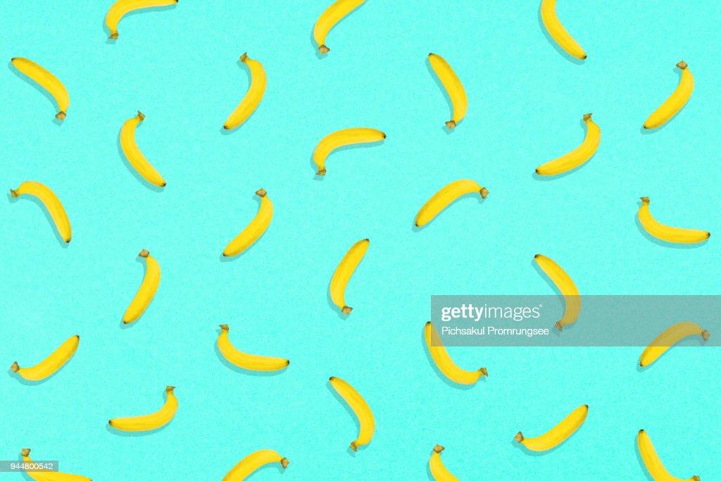 Digitally Generated Image Of Fruits On Blue Background : Stock Photo
