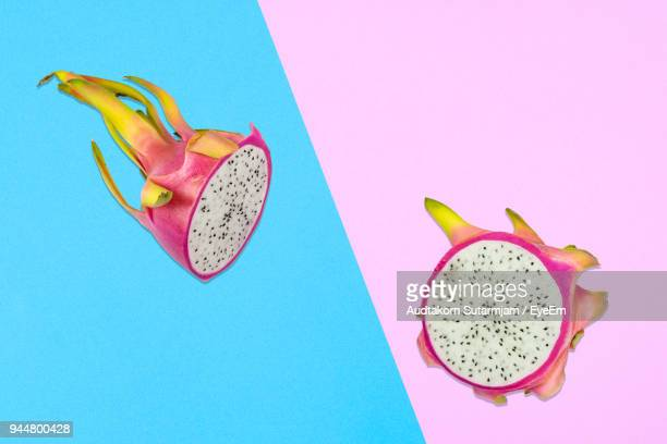 digitally generated image of pitaya on colored background - dragon fruit stock pictures, royalty-free photos & images