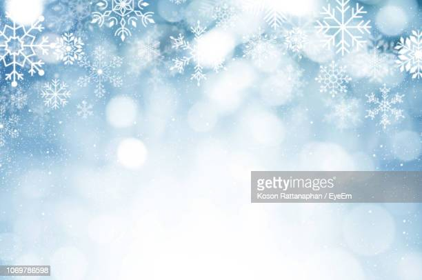 digitally generated image of snowflakes - snowflake stock pictures, royalty-free photos & images