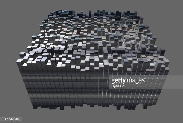 digitally rendered geometry - big data center stock pictures, royalty-free photos & images