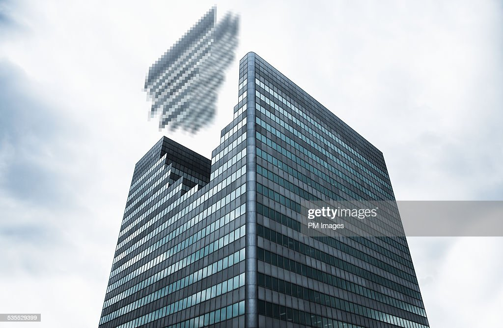 Digitized Office Building : Stock Photo