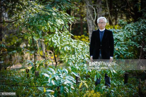 A dignified Japanese senior businessman