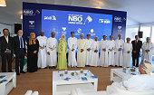 muscat oman dignitaries key sponsors pose