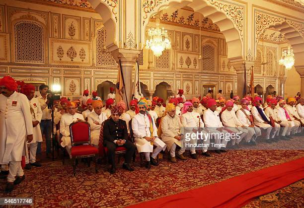 Dignitaries attend the 18th birth anniversary celebrations of Maharaja Sawai Padmanabh Singh of the erstwhile royal family of Jaipur at the City...
